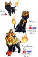 Fake Starters: Egyptian Cats by ARVEN92