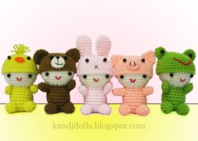 Little Babies, Amigurumi dolls by kandjdolls