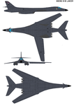 Boeing Rockwell B-1B Lancer by bagera3005