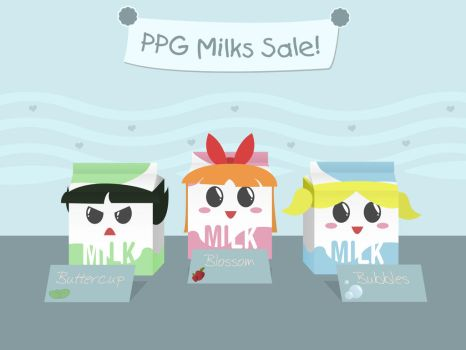 Powerpuff Milks by ryankon
