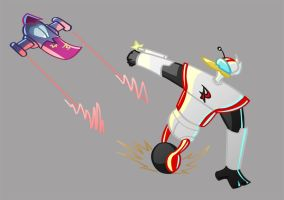 Gizmoduck vs The Thunderquack by warthogrampage