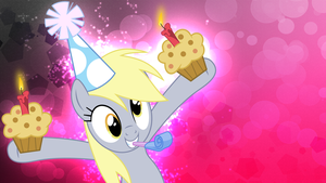 MLP: Derpy's muffin-party Wallpaper by FloppyChiptunes