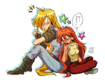 Lina and Gourry by vern-argh