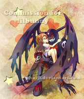 Commission - Ariana and Devimon by PhuiJL