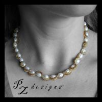 Patti's Pearls Necklace by PurlyZig