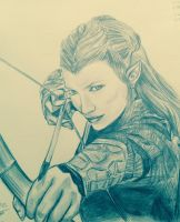 Tauriel by scarletwilight