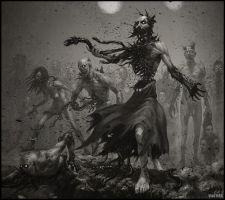 Undead bringing plague by VladMRK