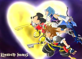 Kingdom Hearts: 3 Keys by badokami