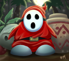 Shy Guy - Mario Bros 2 by EdMoffatt