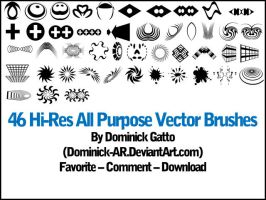 46 Hi-Res Vector Brush Set by Dominick-AR