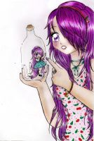 .:Chibi Shuby in the bottle:. by Lil-melody
