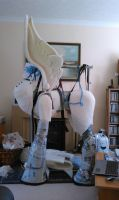 Nightmare Moon pieces part 4 WIP by MadHamsterCostumes