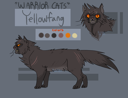 Yellowfang (concept) character sheet by Rillrex