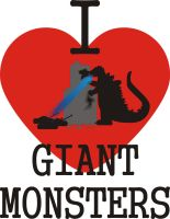 I HEART GIANT MONSTERS by Jay13x