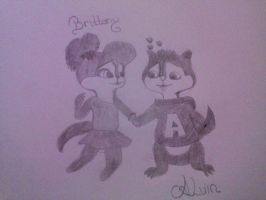 alvin and brittany drawing by alexandrta