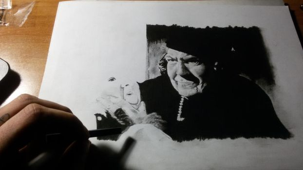 Self taught,wip, portrait,charcoal by Marco-Calo