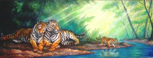 Tiger family by Bisanti