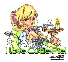 The Bathtub Reader Clipart by Dianabolique