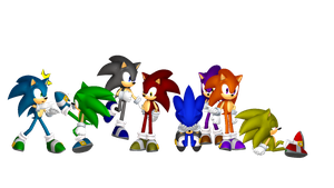 Sonic Dimensions - 8x More Trouble! by MephistaTheDark