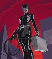 CATWOMAN_Roof_square by DRAWBAK