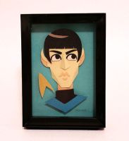 Spock papercut by TRAVALE