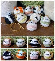Chubby Panda Keychains by pocket-sushi