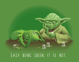 Not Easy Being Green by paxdomino