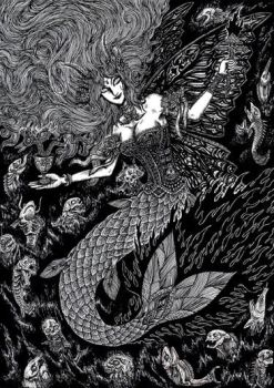 Mermaid in The Abyss by sawsin