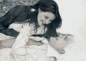 Twilight Edward + Bella wip 4 by Dragonsanddaffodils