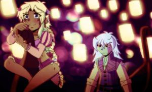 .:YGOXTangled Marik and Bakura:. by Dawnrie