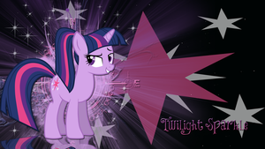 Twilight Sparkle with ponytail wallpaper by LeonBrony
