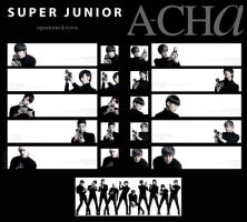 SuJu. A-CHa. signatures,icons by e11ie