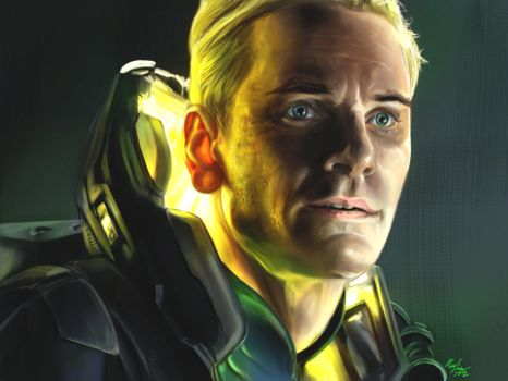 David from Prometheus by MattCombsArt