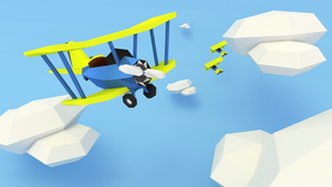 Let's Poly: Low Poly Plane #1 by Dustinnb