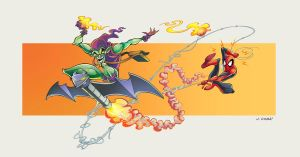 SPIDER ENEMIES: GREEN GOBLIN by VdVector