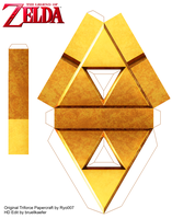 Triforce Papercraft by ryo007 updated be me by Bruellkaefer