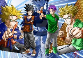 Teen Goten and Trunks by WhysoGurin