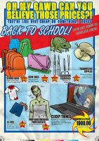 Back To School fake flyer illustration by Asaph