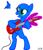 MLP Vector Base - Guitar /Free2Use by MLPBlueRay