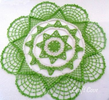 Twisted Lace Doily by Craftcove
