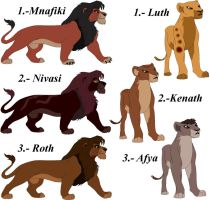 Breedable lions by AgmenAdoptables12