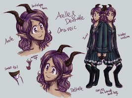 Concept - Arelle and Dethelle by faluu
