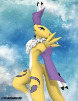 Renamon pose 4 - Reach the Sky by lycanarius