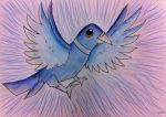 Enrique the blue pigeon by Stormflygirl