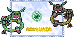 Rayquaza stamp by Kyuzeth