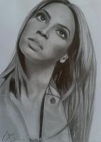 Beyonce drawing finished by Liesjj