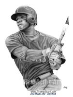Elvis Andrus - Texas Rangers by DFitchPencilArt