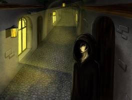 Dark street by Lucie-P