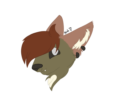 krinh headshot colored lines by krinhmcfluff