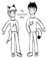 The Kitsunuki Bros. by Kistu-Plus